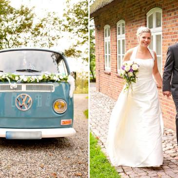 Hochzeitsfotografie in Klanxbüll – mit dem VW- Bulli zum Charlottenhof