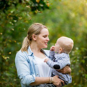 Kinderfotografie im Langbergerforst – Mama und Sohn