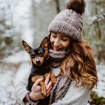 Wintershooting mit Herzens-Hund – Fotografin in Nordfriesland