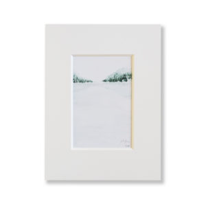 Kunstdruck Aquarell- Gebirge