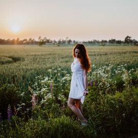Outdoorshooting im Sonnenuntergang – Fotograf in Nordfriesland