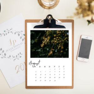 """Klemmbrett-Kalender 2019 – Blüten und Blätter """"Variante 2"""""""