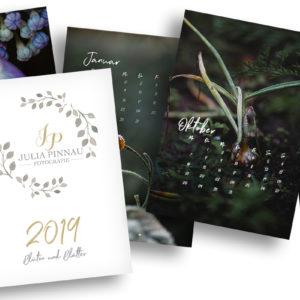 """Wandkalender 2019 – Blüten und Blätter """"Variante 1"""""""