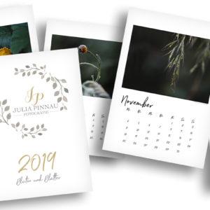 """Wandkalender 2019 – Blüten und Blätter """"Variante 2"""""""