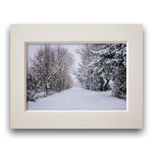 Fotodruck im Passepartout – Winterlandschaft