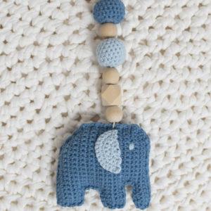 "Maxi-Cosi-Kette ""Kleiner Elefant"" in blau/hellblau"
