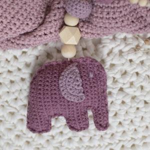 """Maxi-Cosi-Kette """"Kleiner Elefant"""" in alt-rosa"""