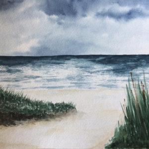 Aquarell – Dünengras 1 aus einer Serie von 3 24 cm x 32 cm
