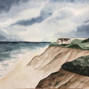 Aquarell – Kliff am Meer 3 aus einer Serie von 3 24 cm x 32 cm