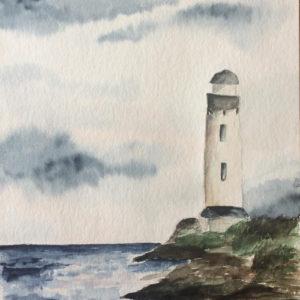 Aquarell – Leuchtturm 17 cm x 24 cm