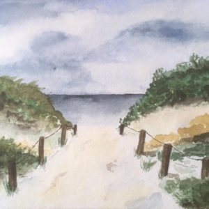 Aquarell – Weg zum Meer 17 cm x 24 cm