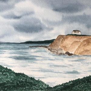 Aquarell – Haus am Kliff 24 cm x 32 cm