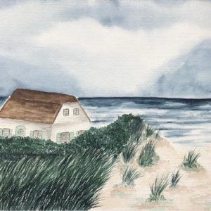 Aquarell – Haus in der Düne 24 cm x 32 cm (Kopie)